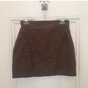 Suede skirt in excellent condition